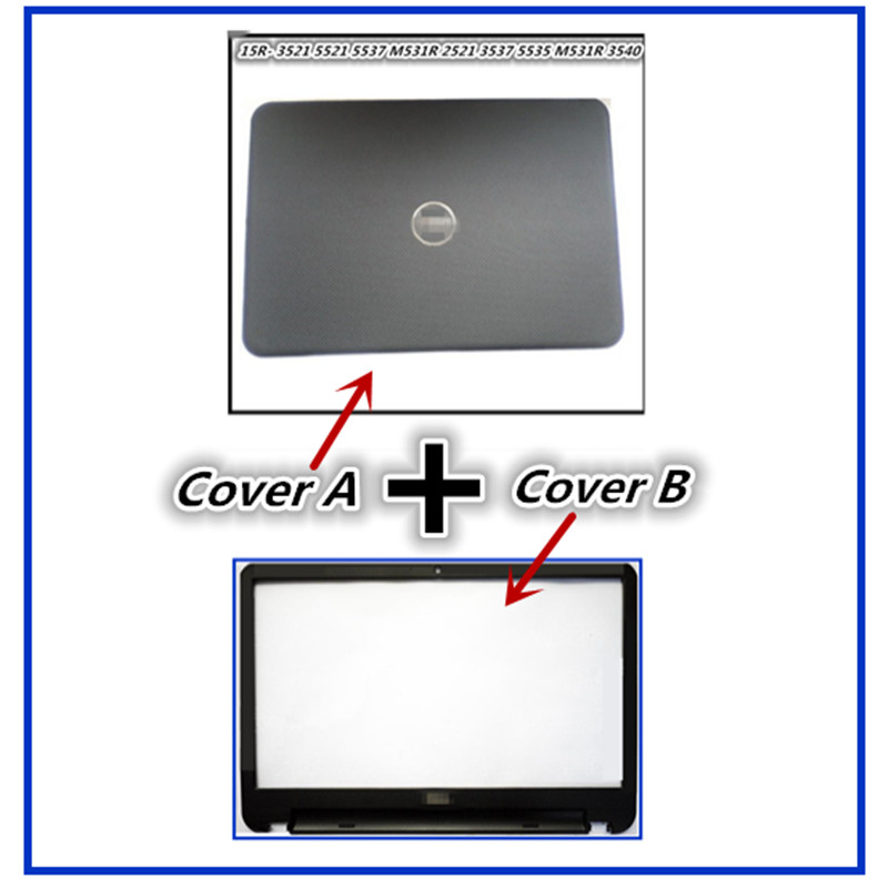 New Laptop For Dell Inspiron 15 15R 5521 5537 3537 3521 LCD Back Cover Upper Cover Front Bezel Case Palmrest Cover Bottom Case