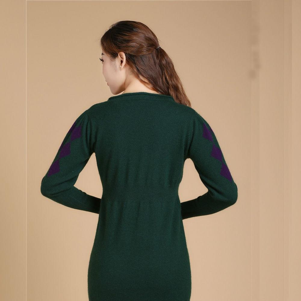 Noir Col Femmes Rond Robe vert Hiver Mode dl9906 Cachemire Dilly Chandail zZwT6qX