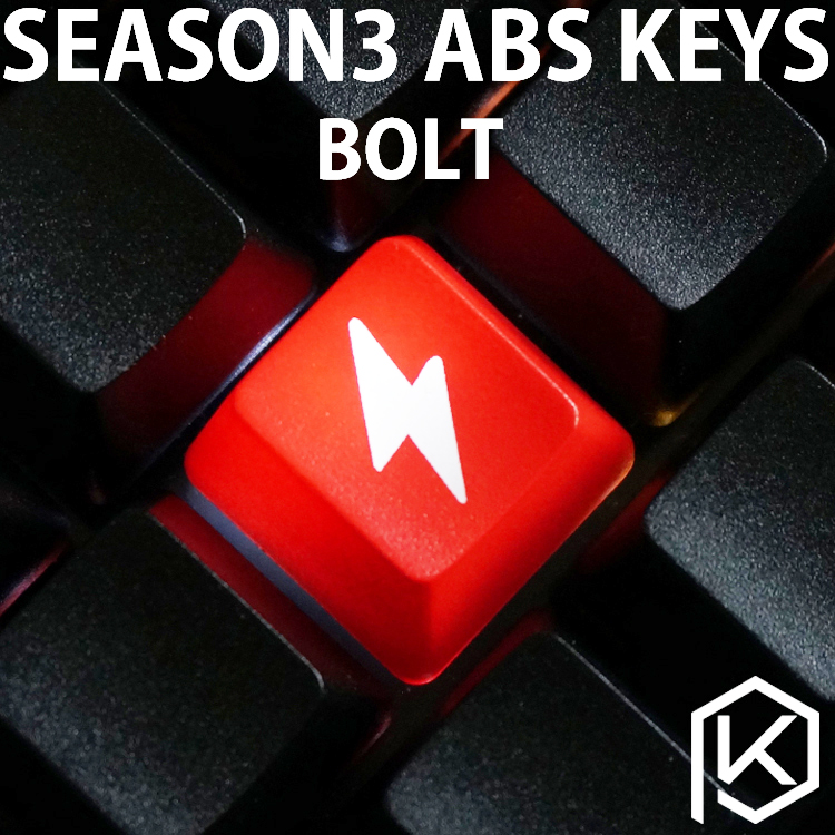 Novelty Shine Through Keycaps ABS Etched, Shine-Through Bolt Black Red Custom Mechanical Keyboards Light Oem Profile