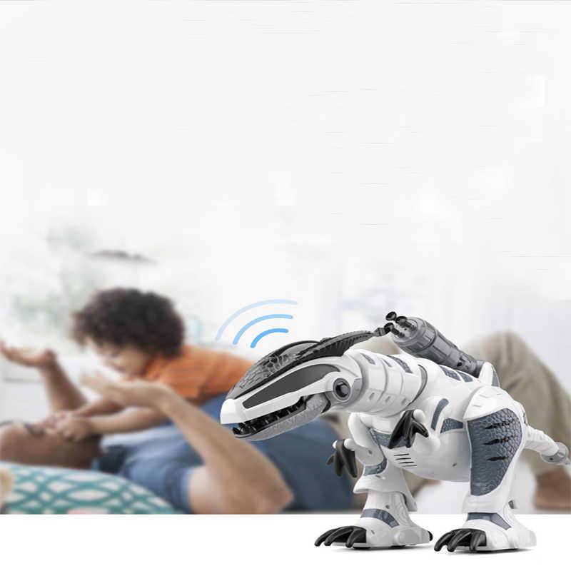 RC Modelo de Dinossauro Inteligente Robô de Controle Remoto Elétrico Mecânico Dragão Guerra Com Música & Light Funções Crianças Brinquedos Hobby