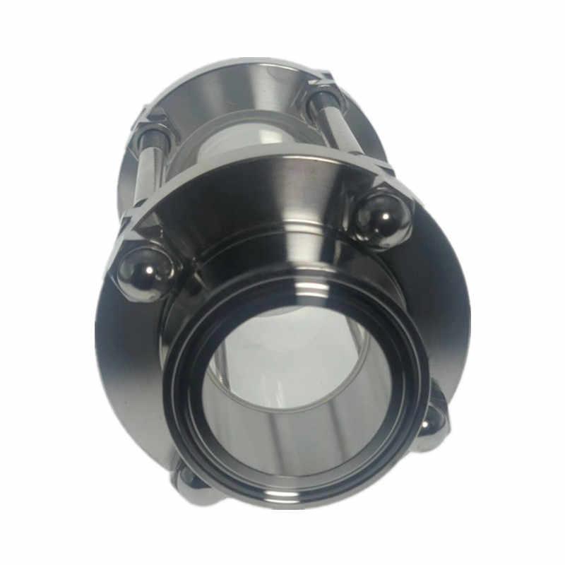 "1.5 ""Tri Clamp Clover Sanitay Flow Kijkglas Dioptrie Fit 38 Mm Pijp Od Sus 304 Rvs Montage homebrew Dagboek Product"