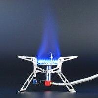 3000 W Gascookers Mini Plegable de Picnic Utensilios de Cocina de Acero Inoxidable De Gas Quemadores Estufas Externa Split Estufa de Cocina Al Aire Libre Equipo de Camping