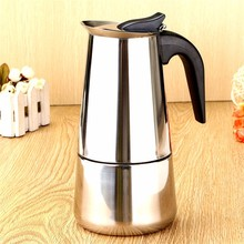 Durable Quality 450ml 9 cups P ercolator Stove Coffee Maker Moka Espresso Latte Pot Pure Taste Strong