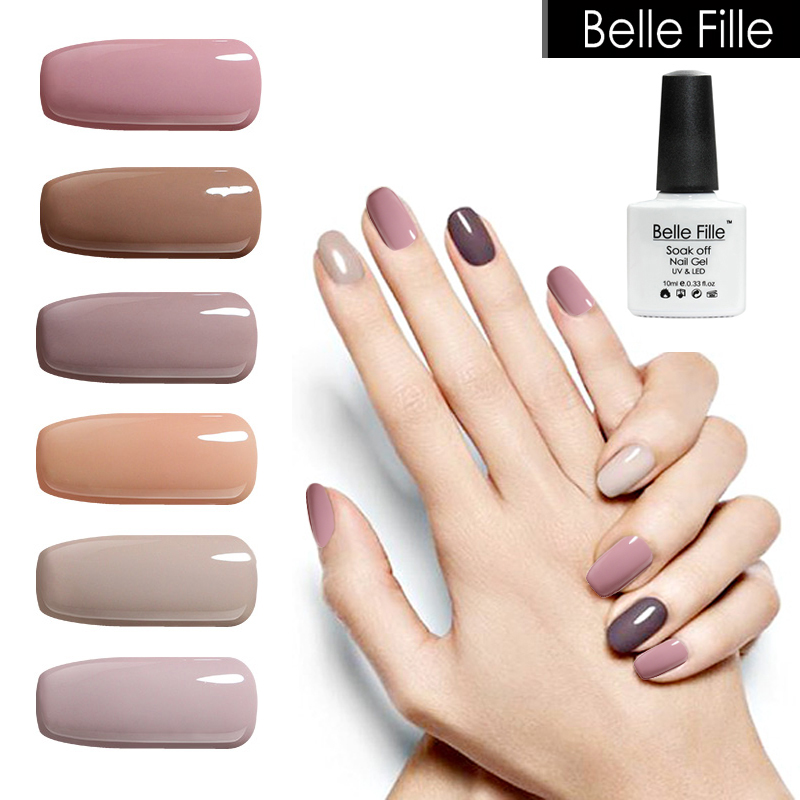 Très Nude UV Nail Gel Polish 10ml 12 Colors Beige Varnish Soak Off Gel  LC72