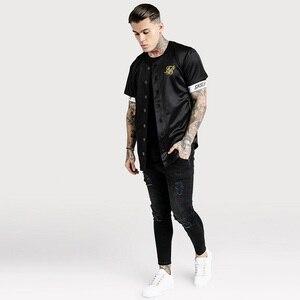 Image 3 - İspanya Sik ipek ipek beyzbol forması T gömlek erkekler yaz Streetwear erkek T Shirt Hip Hop Tee Camisetas Hombre Siksilk t shirt erkekler