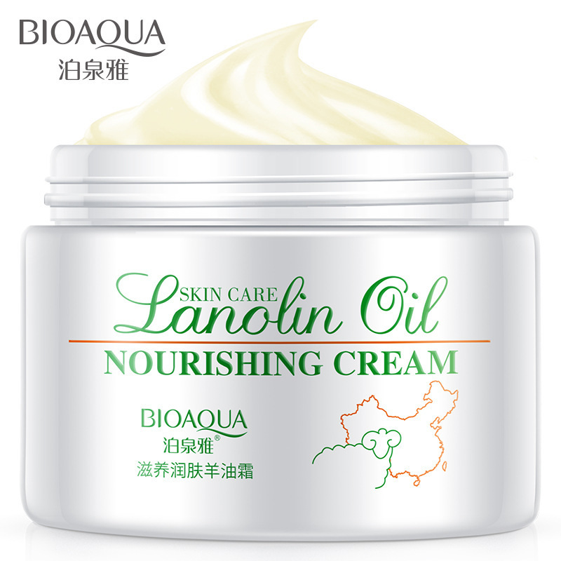 Facial moisturizer with lanolin