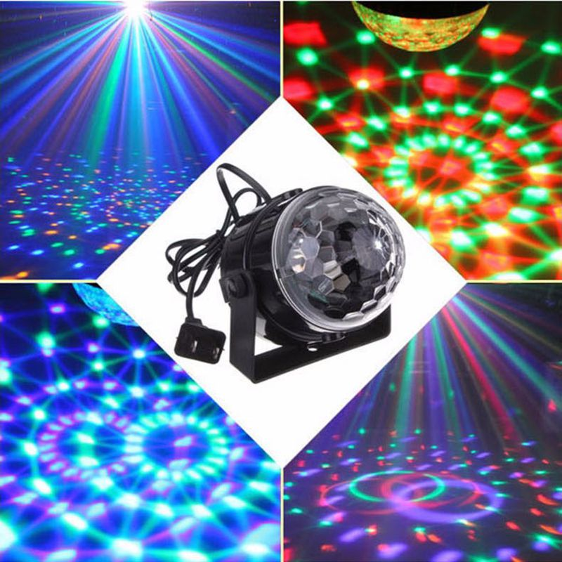 New RGB 5W LED Crystal Magic Control Ball Laser Lamps Projector Stage Effect Lighting Stage Lamp For Party Disco DJ Bar