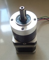 NEMA 17 Planetary Gear Stepper Motor with Ratio 50:1 Gearbox 42mm Motor Length 63mm 1.5A 0.75Nm 4 Wire for CNC Router