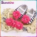 Zebra Girl Rhinestone Baby shoes Rhinestone headband set,Vintage kids shoes,flower newborn baby girl shoes #2T0009 3 set/lot