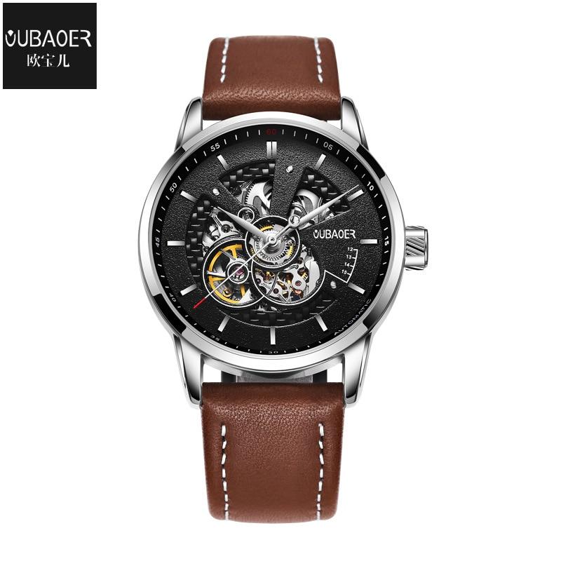 Original Automatico Mechanical Watch Skeleton Casual Wristwatches Clock