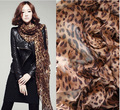 Autumn and Winter Fashion Chiffon Leopard Scarf Ultra - Long Shawl Women Classic Hemp Leopard Pattern Spanish Style Lace Scarf