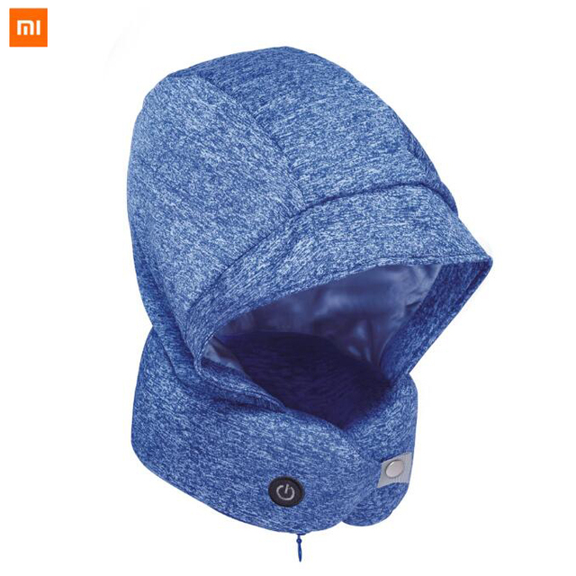 2019 New xiaomi mijia youpin Classic smart Nap U-shape Neck Pillow with hat Eye Mask Travel Office Airplane Head Rest Pillow