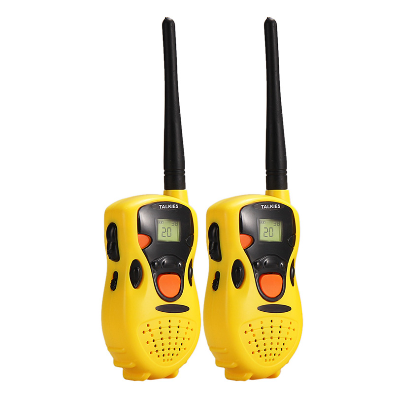 2Pcs Toy Handheld Walkie Talkies for Children Pretent Play Game Toy Simulated Interphone Educational Toy Yellow