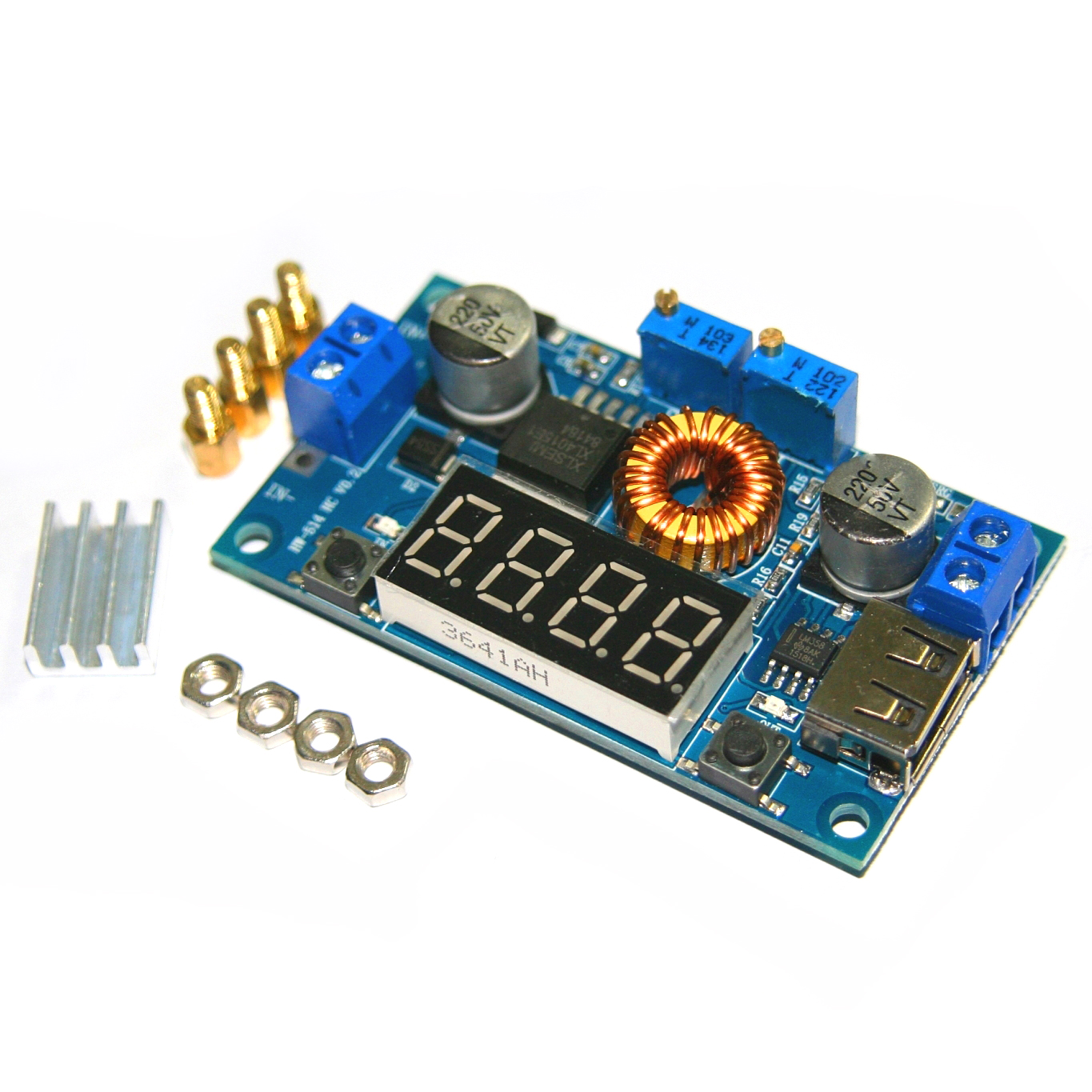 dc dc 5a digital led drive lithum battery charger module cc cv usb step down buck converter with voltmeter ammeter in integrated circuits from electronic  [ 1365 x 1365 Pixel ]