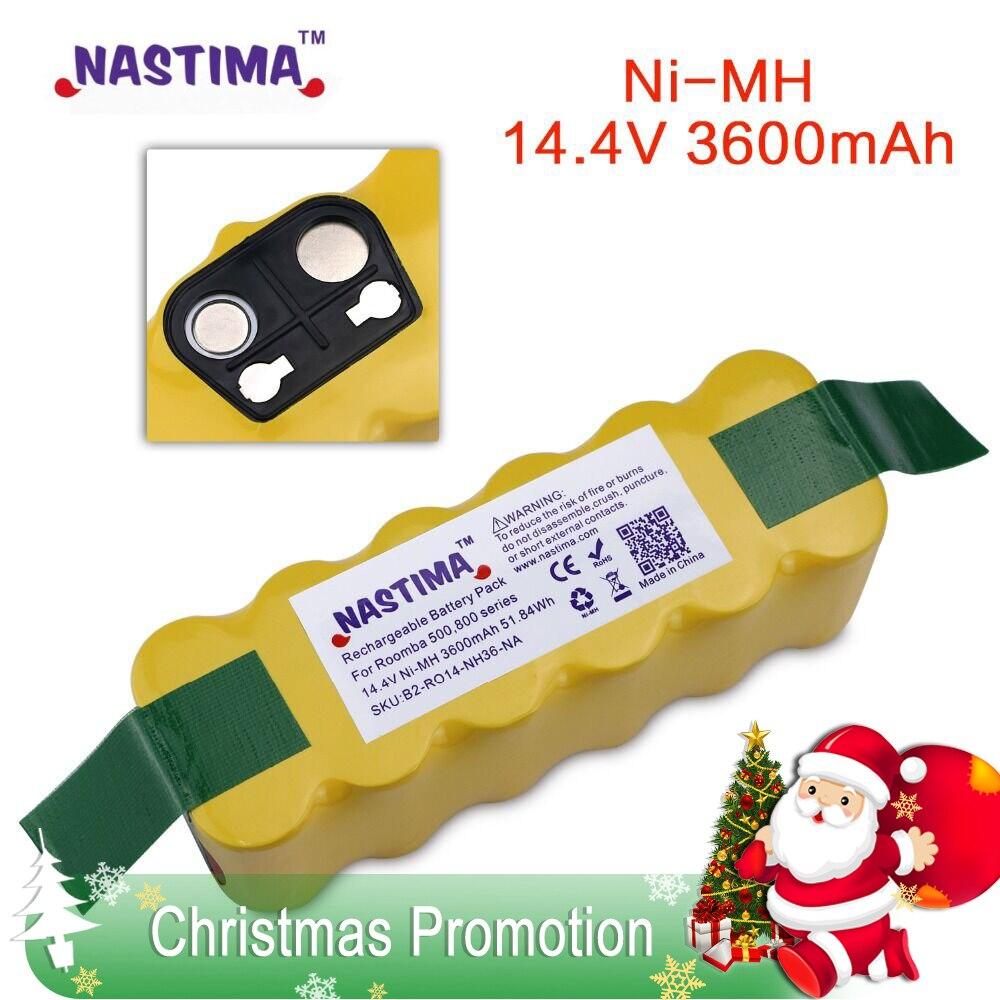 NASTIMA 3600 mah Bateria para iRobot Roomba 500 600 700 800 900 Series Vacuum Cleaner iRobot roomba 600 620 650 700 770 780 800