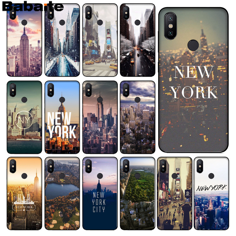 Cellphones & Telecommunications Phone Bags & Cases Frank Babaite Nyc New York City Landscape Novelty Fundas Phone Case Cover For Xiaomi Mi 6 8 Se Note2 3 Mix2 Redmi 5 5plus Note 4 5