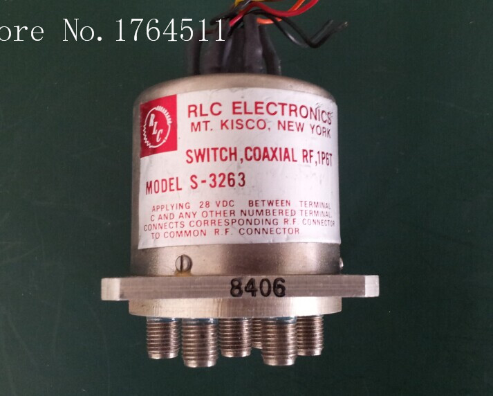 [BELLA] RLC ELECTRONICS S-3263 DC-18GHZ 28V Single Pole Six Throw RF - SMA