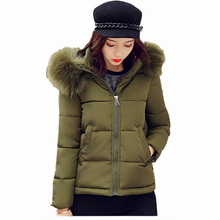 Flying Roc 2019 Winter Autumn Women Cotton New Slim Coat Femmes Manteaux Hiver Ladies Parka Hooded