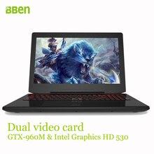 Bben ак-15 игровой ноутбук компьютер, i7-6700hq процессора, ddr4 8 ГБ/16 ГБ ddr4 озу, 128 ГБ/256 ГБ m.2 ssd + 500 г/1 ТБ hdd, 1920×1080, 15.6″