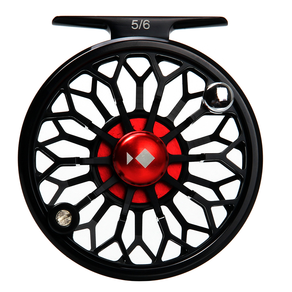 купить AnglerDream Archer 3/4 5/6 7/8WT Fly Reel CNC Machined 6061 T6 Aluminum Black Large Arbor Fly Fishing Reel Spare Spool