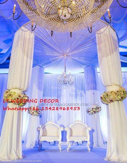 Wedding backdrops for circle piping framewedding decoration props wedding backdrops for circle piping framewedding decoration propsdrape for wedding arch junglespirit Images