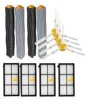 2 Set Tangle Free Debris Extractor 4 Hepa Filters 4 Side Brushes Replacement Kit For Irobot