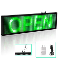 34cm Wifi LED Message Board Green LED Sign Programmable Scrolling for Business Home Decoration coffee shop bar Sign Lighting