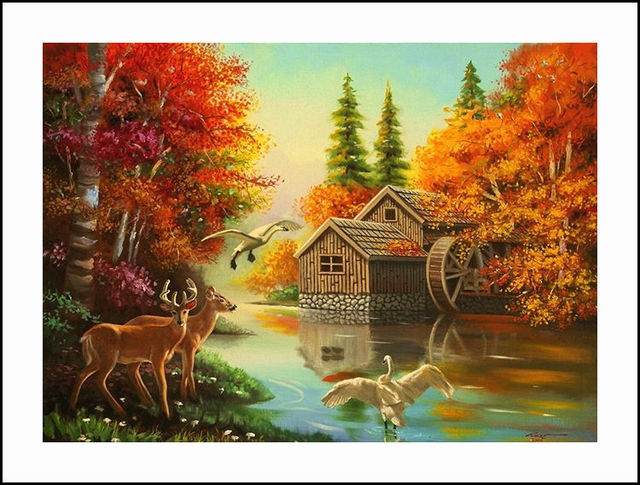 Cabin In The Woods Diamond Embroidery 5D Painting Cross Stitch Mosaic Pattern Square Rhinestone Needlework Gift