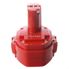 Fasdga 14 4V 3 0Ah NiMH Battery for Makita 6281D 6333D 6336D 6337D 6339D Red
