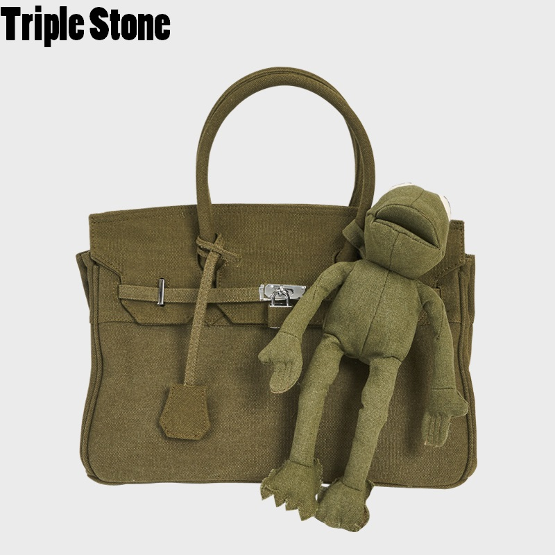 Men Military Bags Green Platinum Lock Package Frog Toy Large Capacity Women Shoulder Tote Bag Travel Big Handbags Classic 2 Size