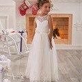 2016 first communion dresses for girls A Line Scoop  Vintage Floor Length Princess Kids Formal Wear  Flower Girls Dress