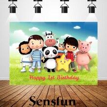 Виниловый фон Sxy0102 для съемки новорожденных, вечеринки в честь первого дня рождения, Мультяшные фоны для студийной фотосъемки с маленьким ребенком 220x150 см