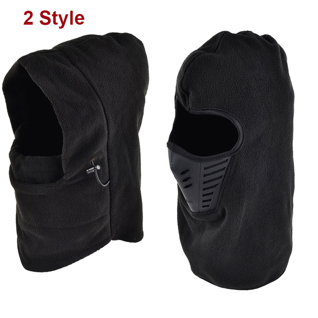 Protective mask Thermal Fleece Neck Warm Balaclava Ski Full Face Mask Cap Protection For Adult Cyclelist Outdoors Camping
