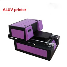 LEDUV 30W Semi-auto A4 UV Inkjet Printer print on common Metal/Wooden/Plastc/TPU/PVC with Embossed effect 110V/220V A4UV printer