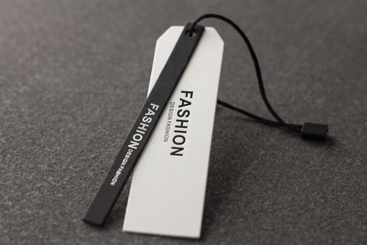 Free Shipping High-grade Black Spot  Tag Made Of Special Paper Custom Clothing Tag Custom
