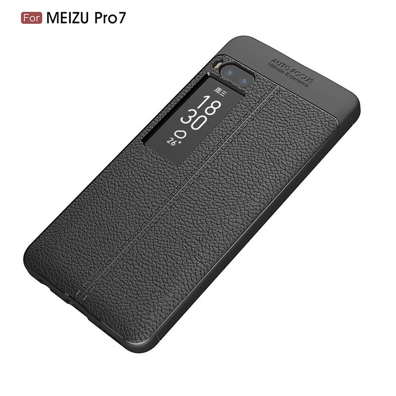 Litchi leather silicone case Meizu Pro 7 (19)