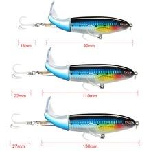 SeaKnight SK050 Whopper Plopper 1PC 13g/90mm 19g/110mm 39g/130mm Topwater Fishing Lure Rotating Tail VMC Hooks Bass Fishing Bait