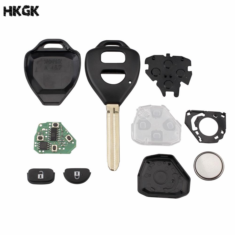 BHKEY-2Buttons-Remote-Key-Keyless-Entry-G-4D67-Chip-optional-For-Toyota-Camry-Corolla-Prado-RAV4