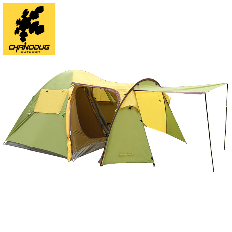 CHANODUG 4-6 Person Use One Hall One Bedroom Ultralarge Double Layer Waterproof Camping Tent Beach Tent Barraca
