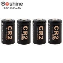 цена на 4pc Soshine 3V 1000mAh CR2 Lithium Battery CR2 LiFePO4 Non-Rechargeable Battery for LED Flashlights Headlamps High Quality