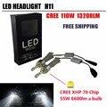2016 110W 13200Lm Car H11 LED Headlight H8 H9 H11 Xenon White 6000K CRE-E XHP-70 Chips Car LED Headlight Bulbs