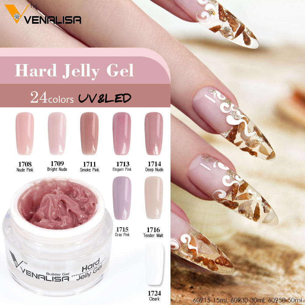 Transparent Color French Nails Camouflage Hard Jelly Builder Gel