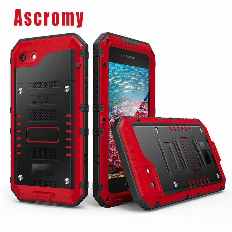 Ascromy For iPhone 7 Case Waterproof Full body Built in