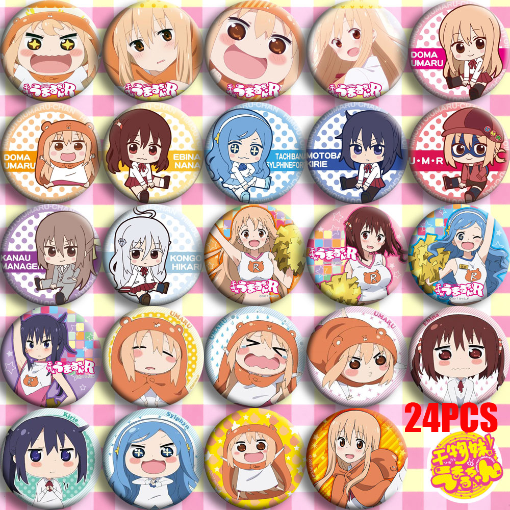 Japan Anime Himouto! Umaru-chan Doma Umaru Nana Ebina Cosplay Bedge Cartoon Collect Bags Badges For Backpack Button Brooch Pin
