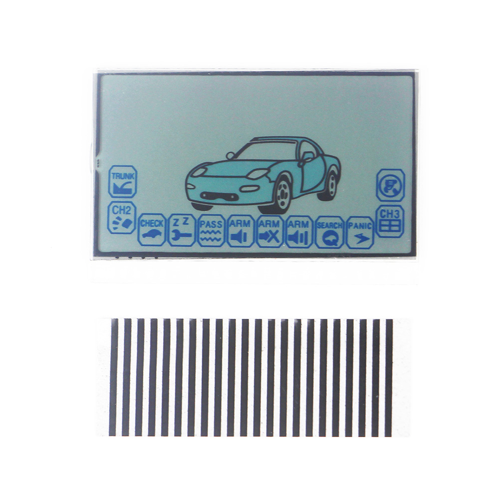 Free Shipping A6 LCD Display Train Starline A6 Car Remote Control A6 LCD Display Flexible Cable