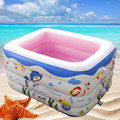 2016 White fourth ring Square children's pool inflatable  baby pool beach pool free shipping