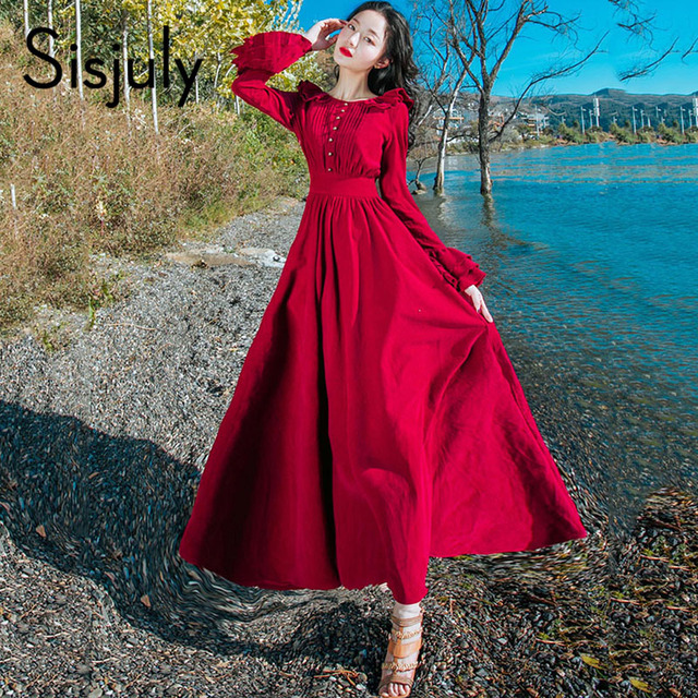 5ae38e77b897 Sisjuly Long Sleeve Summer Dress Chic Sun Protection Green Tropical Print Maxi  Dresses Casual V Neck Long Belt Plus Size Dress free shipping worldwide