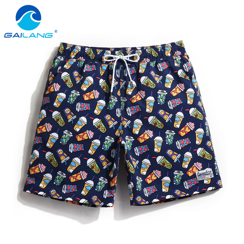 Gailang Brand Sexy Men's   Board     Shorts   Beach Boxer Trunks Men Plus Size Quick Drying   Shorts   Gay Man Swimwear Swimsuits