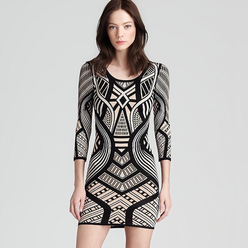Top Quality Girls Long Sleeve Jacquard Bandage Dress Elegant Party Dresses