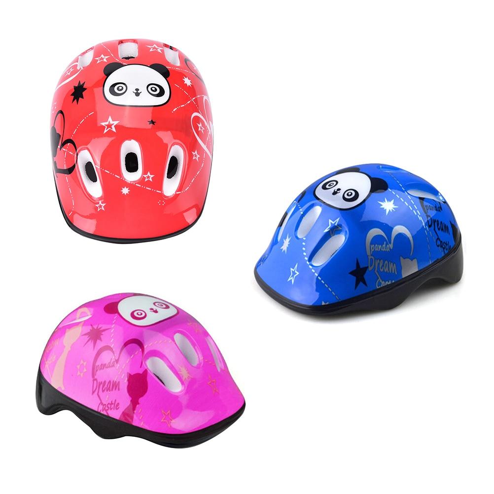 Girls Boys Sports Panda Pattern Head Helmets Skating Skate Board Kids Protective Gear Childrens Safety Helmet Drop shipping